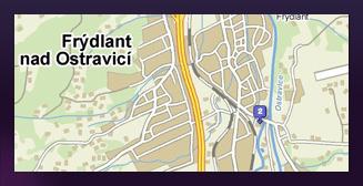 mapa Frýdlant