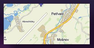 mapa Mošnov